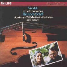 Vivaldi - Heinrich Schiff, Iona Brown, The Academy Of St. Martin-in-the-Fields ‎– 5 Cello Concertos