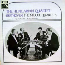 "The Hungarian Quartet - Beethoven ‎– The Middle Quartets - Volume One: Op.59, No.1 In F ""Rasoumovsky"""