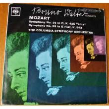 Mozart - Bruno Walter, Columbia Symphony Orchestra – Symphonies No's 36, K 425 & 39, K 543