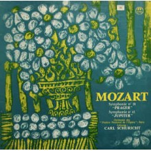 Mozart - Carl Schuricht Conducts The Orchestra Of The Paris Opera* ‎– Jupiter Symphony / Prague Symphony